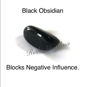 Jewelry - BlackObsidian Reiki Infused Crystal with Gift